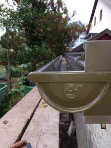 Prefa Dachrinne Farbe braun, Größe 280 mm